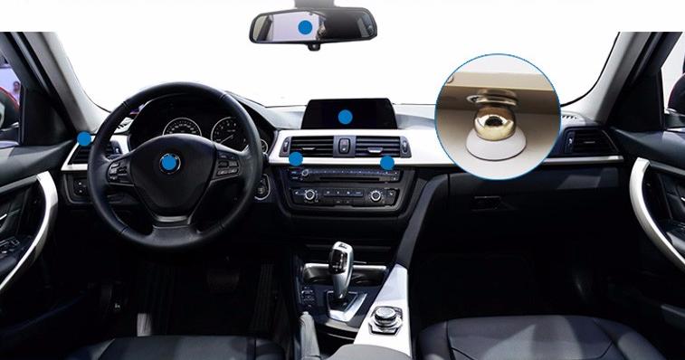 kde je možné umístit magnetický držák na mobil v autě