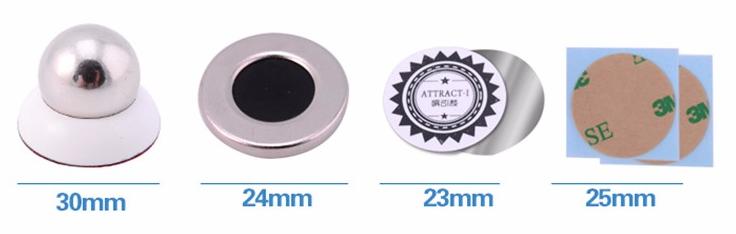 magnetický držák na mobil - rozměry
