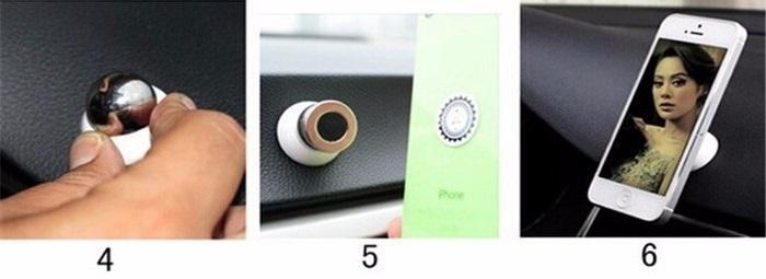 magnetický držák na mobil do auta - montáž do auta - 2