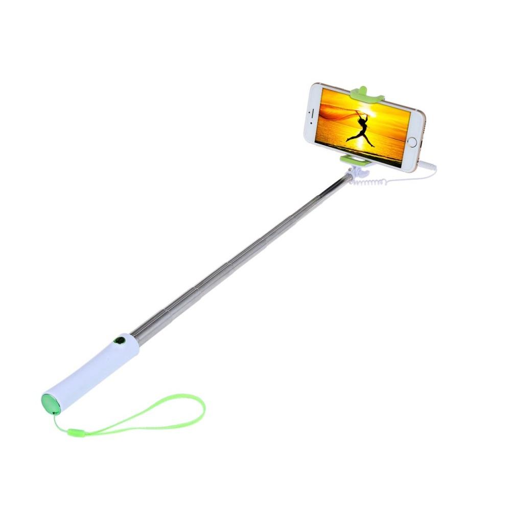 Selfie tyč s tlačítkem- barva zelená
