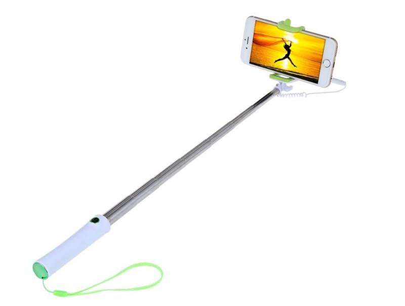 Selfie tyč s tlačítkem pro iPhone i Android | barva zelená