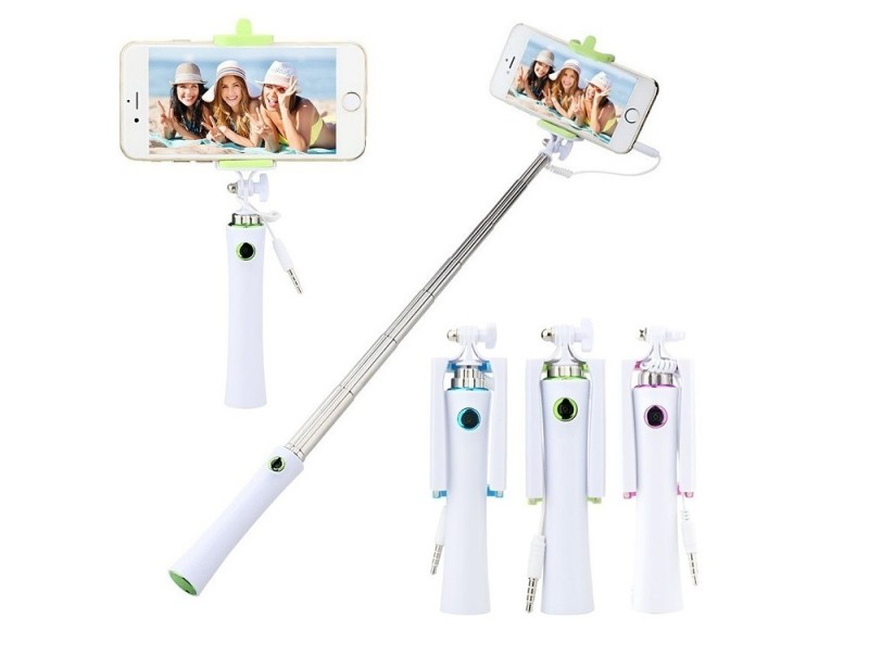 Selfie tyč - barva zelená modrá růžová