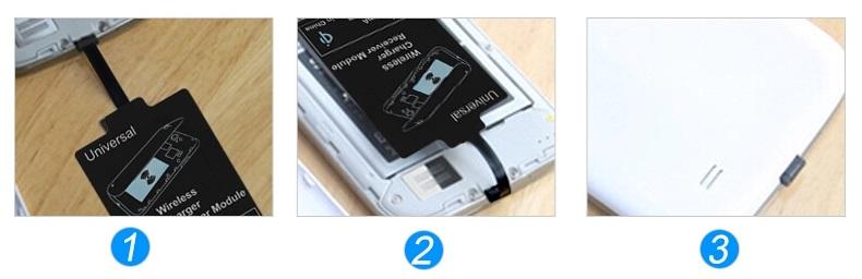 Receiver pro bezdrátové nabíjení telefonu - návod na instalaci