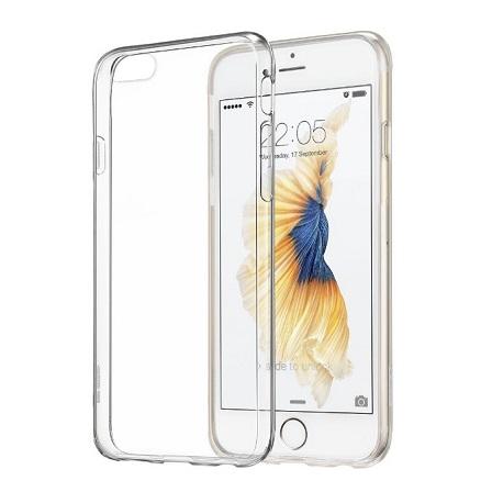 Elegantní silikonový obal pro iPhone 6 Plus, 6S Plus - průhledný
