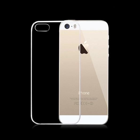 Elegantní silikonový průhledný obal pro iPhone zezadu