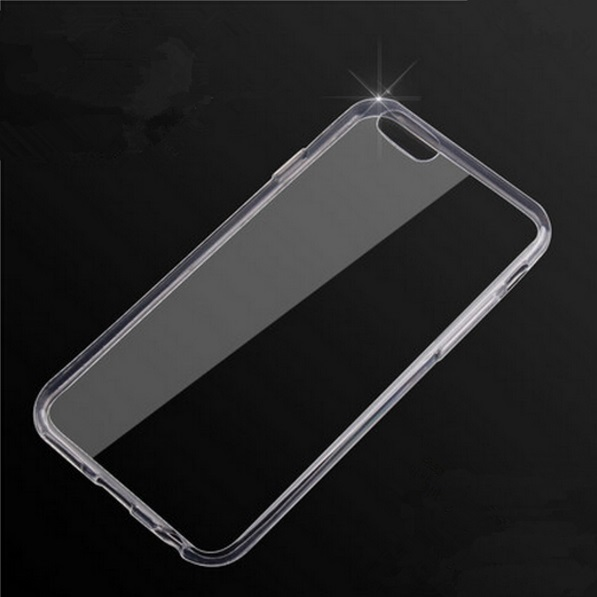Elegantní silikonový průhledný obal pro iPhone samotný