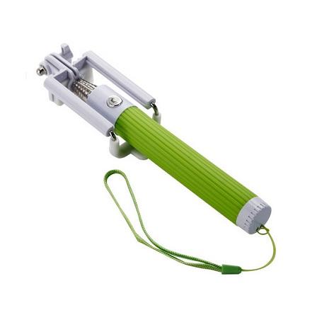Levná selfie tyč s tlačítkem | barva zelená